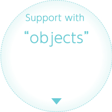 "Support with  ""objects"""